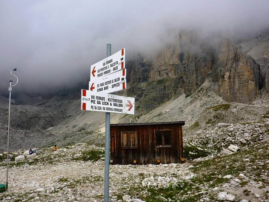 Vallon Klettersteig : Bergtour monte vallon bianco