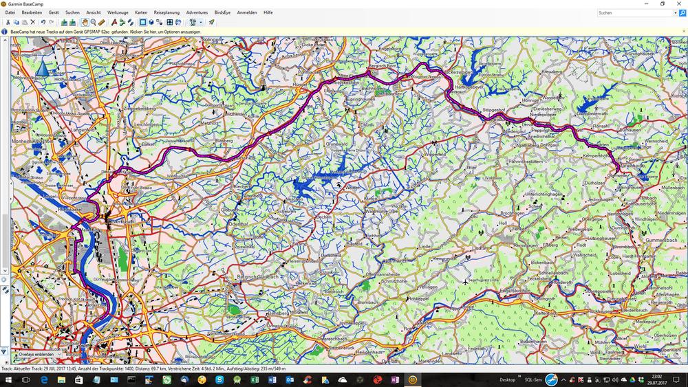 Fahrrad Touring: Radtour von Marienheide nach Köln (Tour 159153)