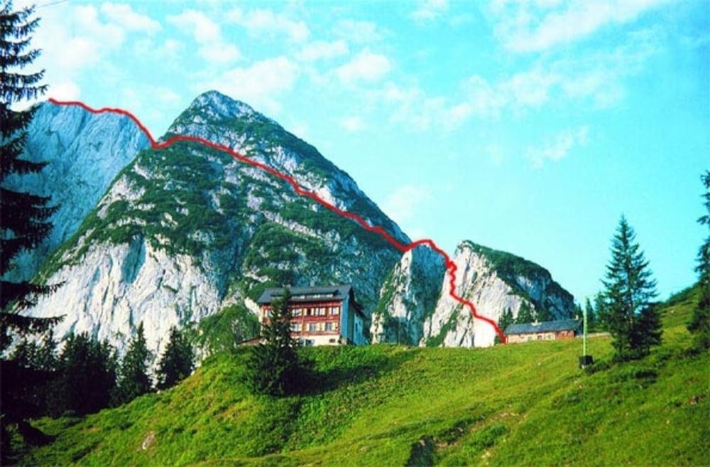 Klettersteig Gosausee : Klettersteig gosau bergfex schmied tour