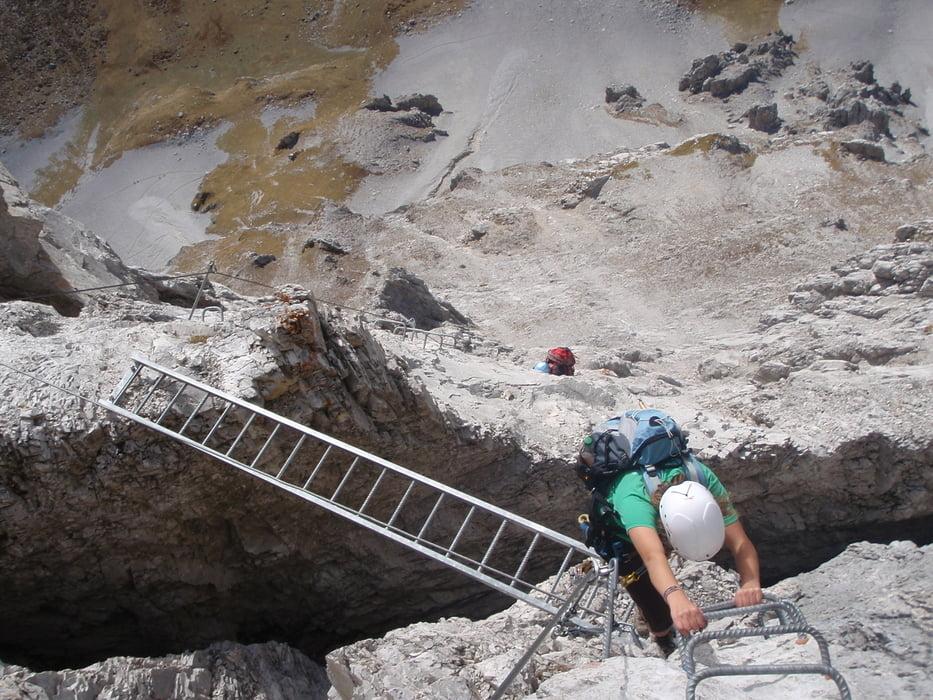 Klettersteig Karte : Klettersteig gauablick sulzfluh