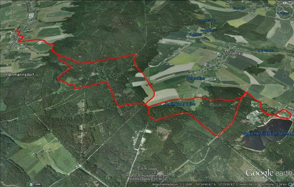 Wandern: Filzteich Schneeberg wandern durch den Forst. (Tour 131517)