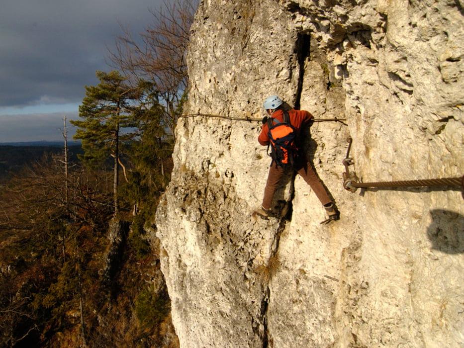 Klettersteig Franken : Klettersteig: höhenglücksteig von neutras tour 46775