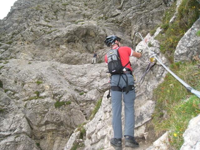 Klettersteig Salewa : Leichter klettersteig salewa auf den iseler m