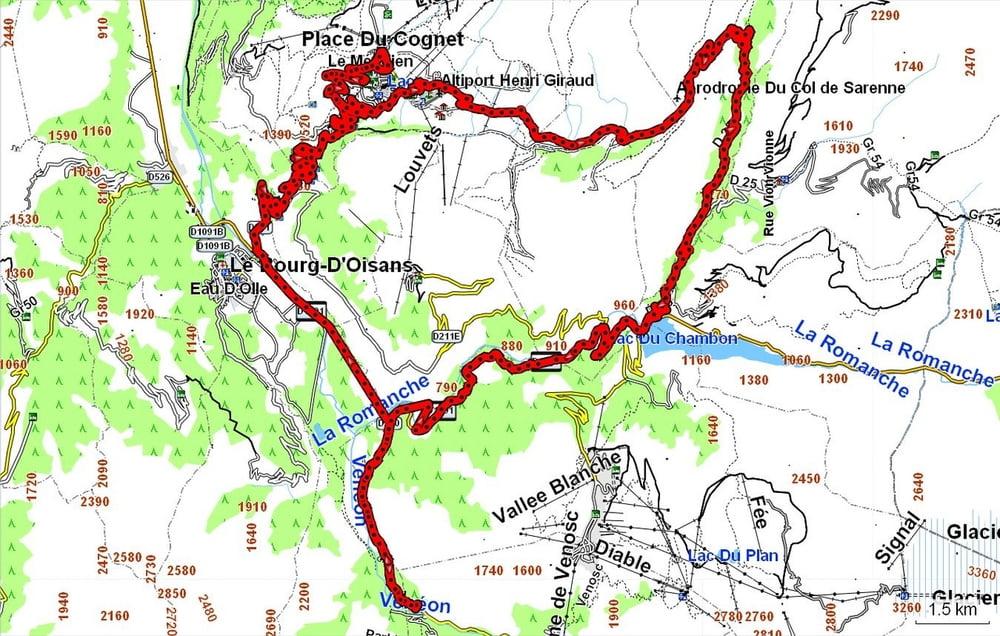Rennrad: Die 21 Kehren von Alpe d Huez (Tour 103130)