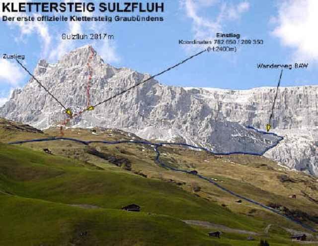 Klettersteig Sulzfluh : Bergtour klettersteig sulzfluh tour
