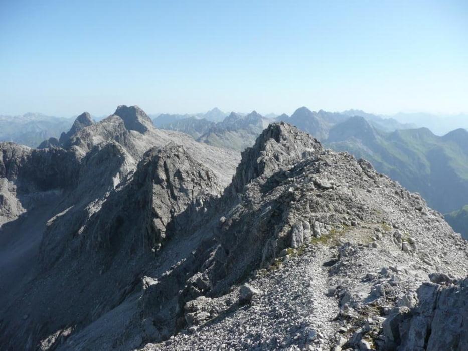 Klettersteigset Heilbronner Weg : Bergtour heilbronner weg von der rappensee zur kemptener hütte