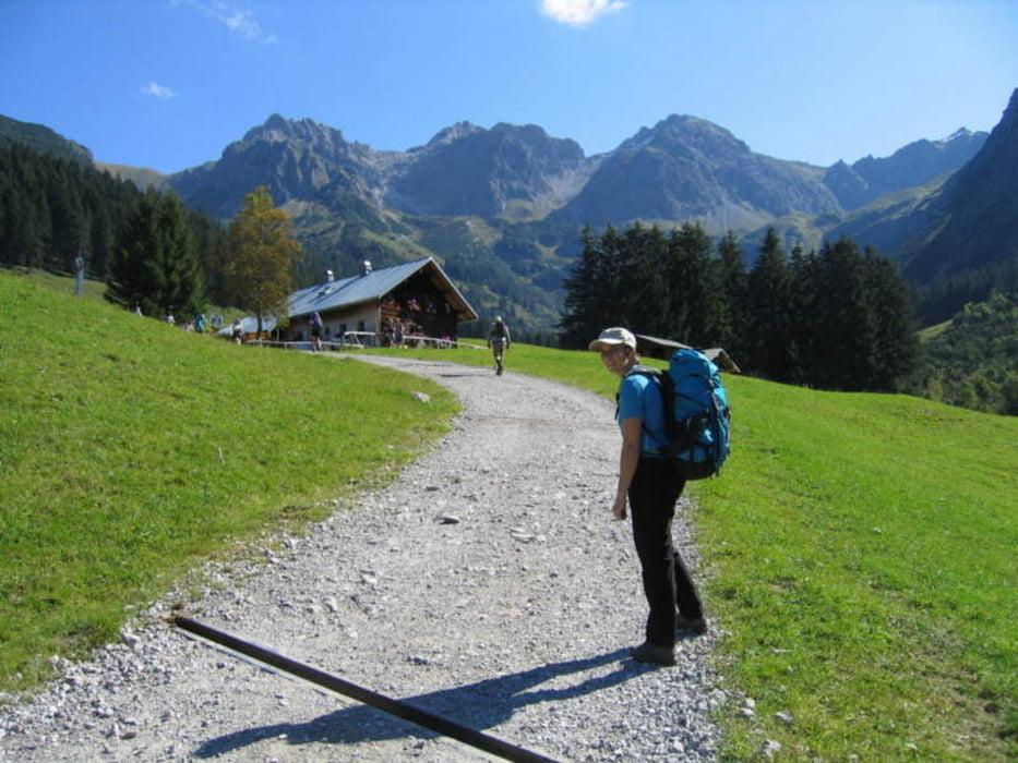 Klettersteig Mindelheimer : Mittelschwerer klettersteig mindelheimer mit