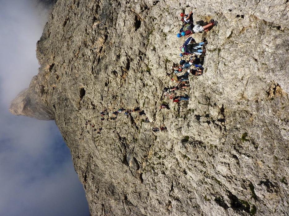 Klettersteig Pisciadu : Klettersteig cima pisciadu m tour