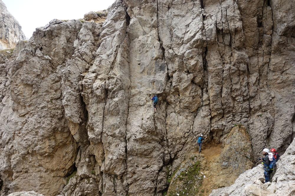 Klettersteig Rotwand : Klettersteig rotwand masare steig vom karerpass tour
