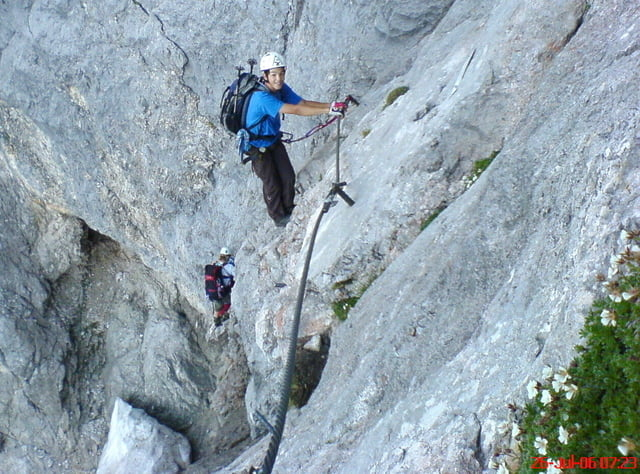 Dachstein Klettersteig Johann : Wir bezwingen den u ejohannu c