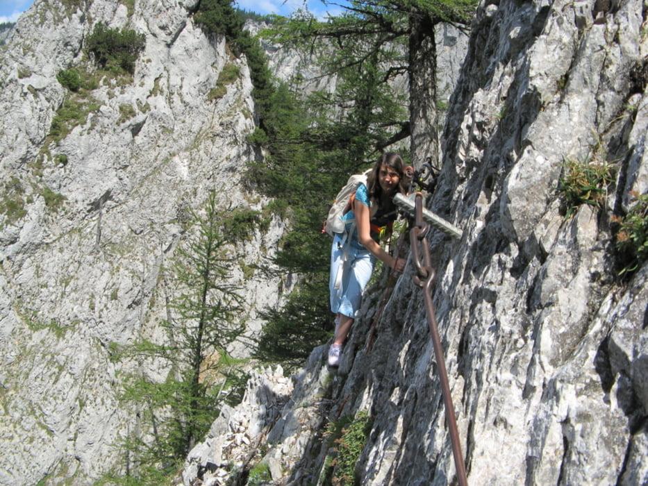Klettersteig Rax : Klettersteig rax wildfährte tour