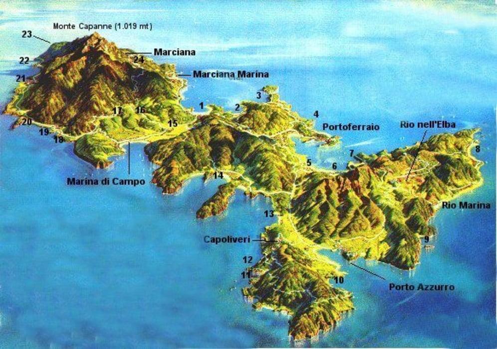 Cartina Isola Delba Capoliveri.Bicicletta Da Corsa Gran Tour Dell Isola D Elba Tour 156098