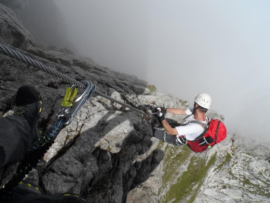 Klettersteig In English : Klettersteig: hindelanger klettersteig 4 tages tour 134747
