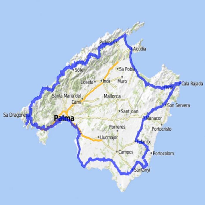 Itinerari in bicicletta: Mallorca Inselumrundung in 3 Tagen ...