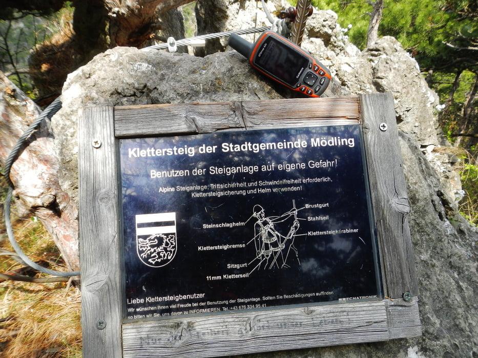 Klettersteig Mödling : Klettersteig mödlinger und radtour tour