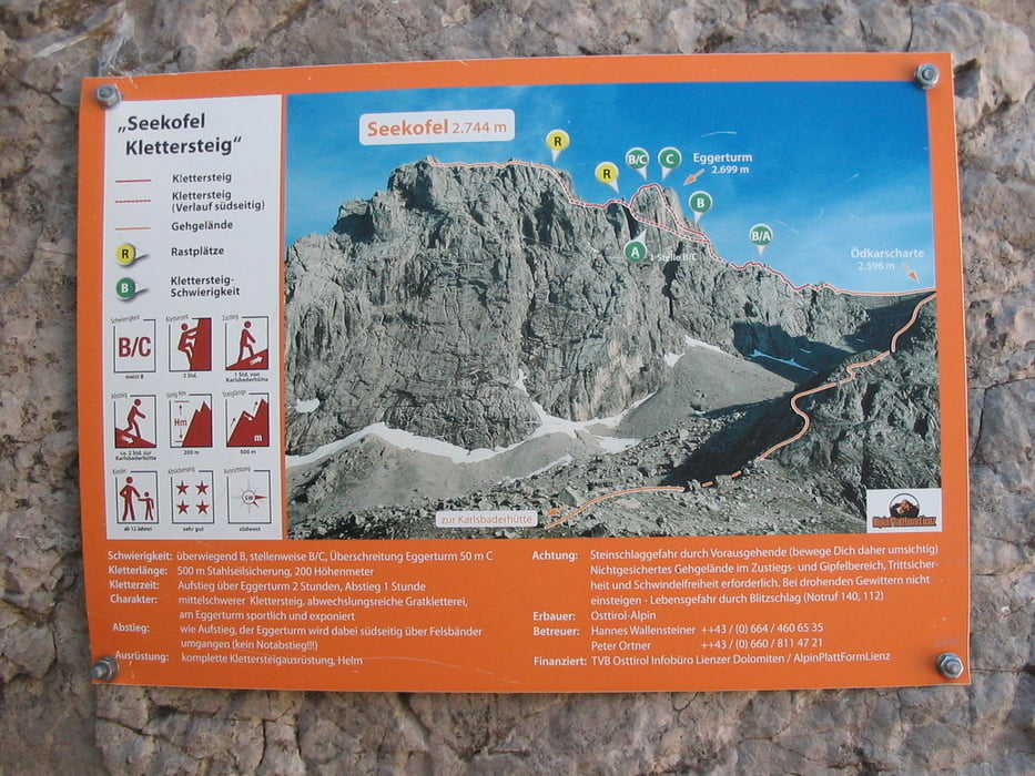 Klettersteig Lienz : Klettersteig lienzer dolomiten seekofel tour