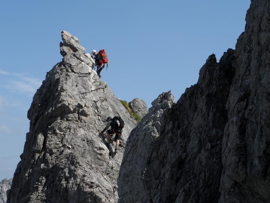 Klettersteig Mindelheimer : Mindelheimer klettersteig bergsteigen