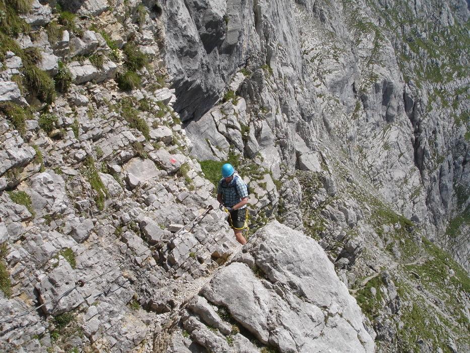 Klettersteig Wilder Kaiser Ellmauer Halt : Klettersteig wilder kaiser ellmauer halt gamsänger steig
