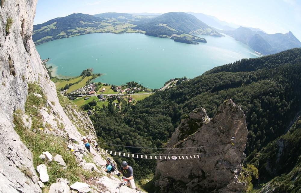 Klettersteig Mondsee : Klettersteig drachenwand mondsee tour