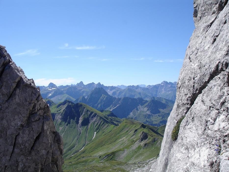 Hindelanger Klettersteig Ungesicherte Stellen : Hindelanger klettersteig bergschule kleinwalsertal