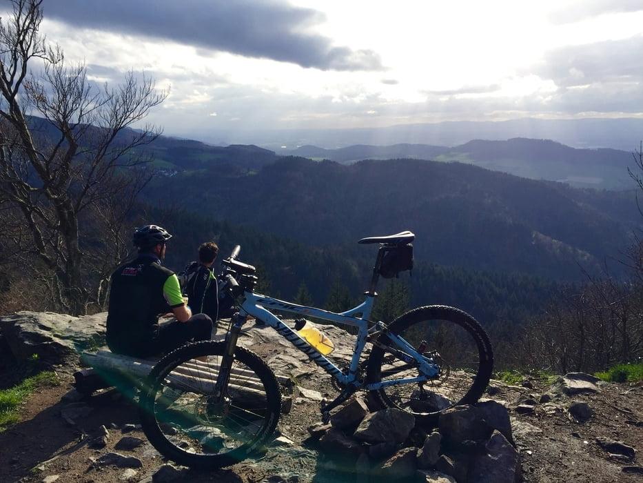 mountainbike trails von freiburg zum kibfelsen kybfelsen und zur ck tour 148902. Black Bedroom Furniture Sets. Home Design Ideas