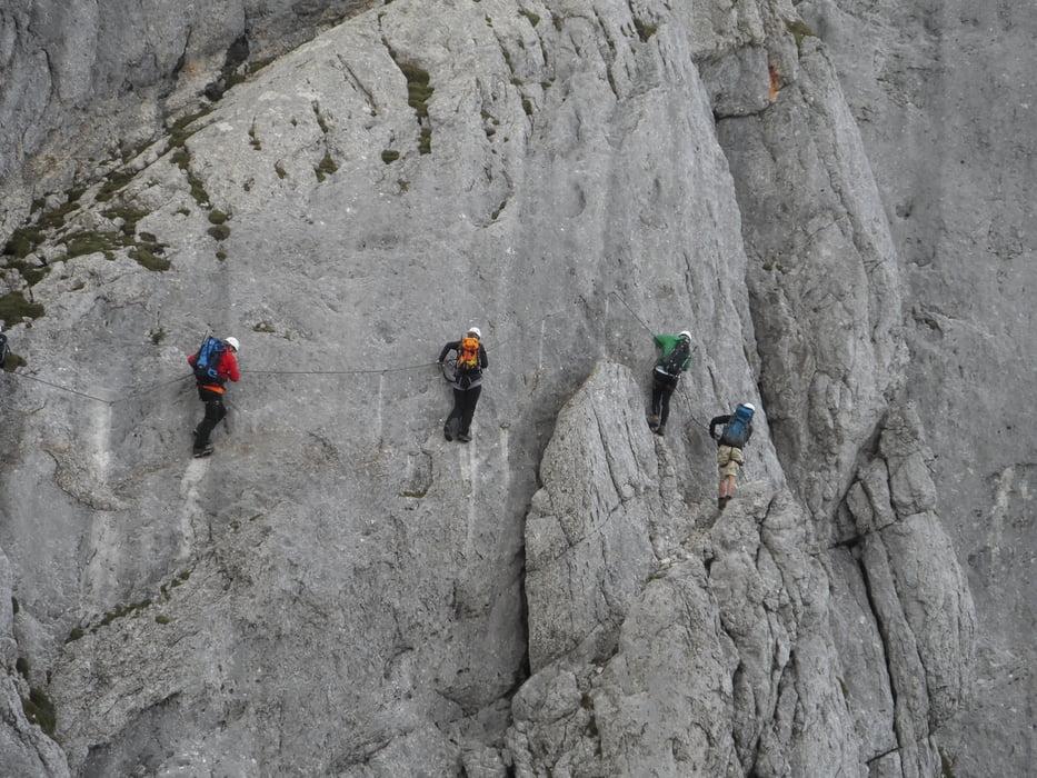 Klettersteig Achensee : Klettersteig: 5 gipfel klettersteig im rofan tour 123447
