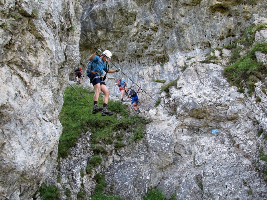 Klettersteig Ottenalm : Klettersteig walchsee klettersteige tour