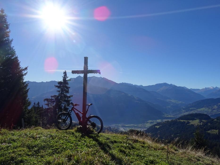 Mountain bike Laax Falera Crap Masegn Tour 161106
