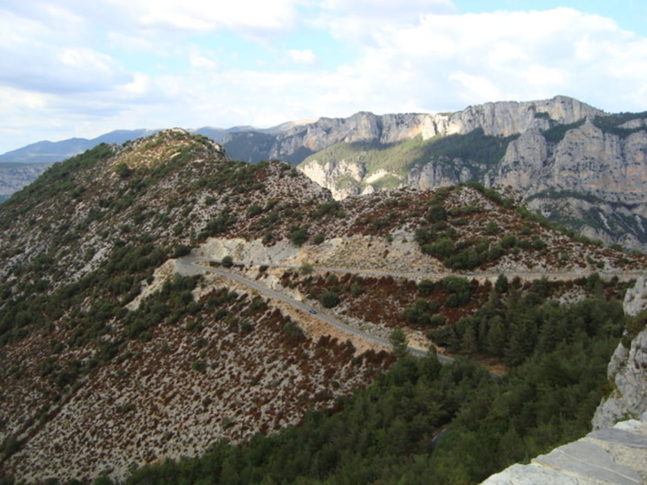 Klettersteig Verdon : Rennrad grand canyon du verdon tour