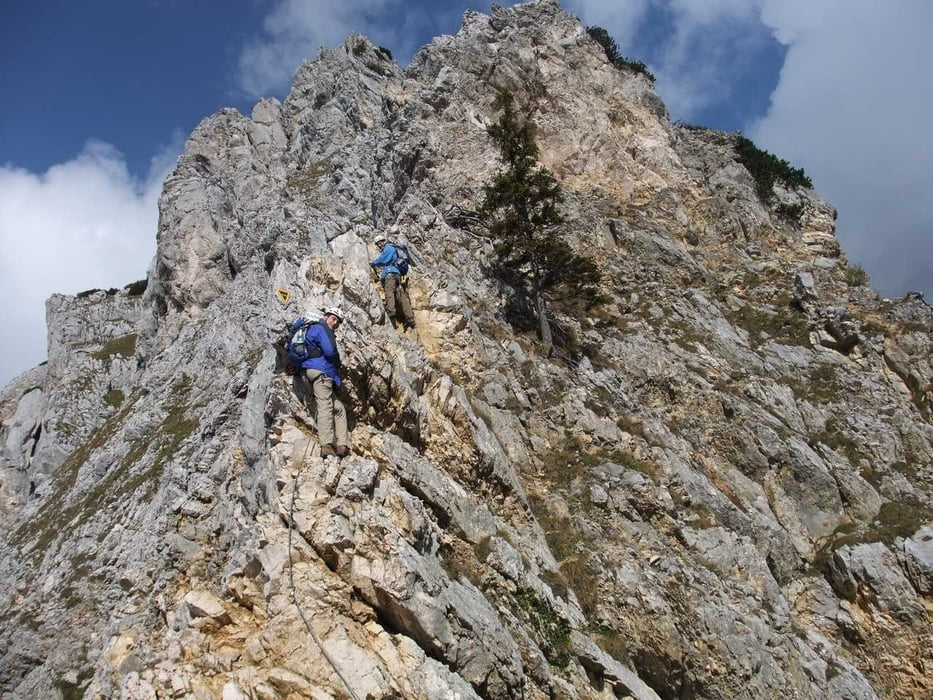 Friedberger Klettersteig : Klettersteig rote flüh und friedberger tour