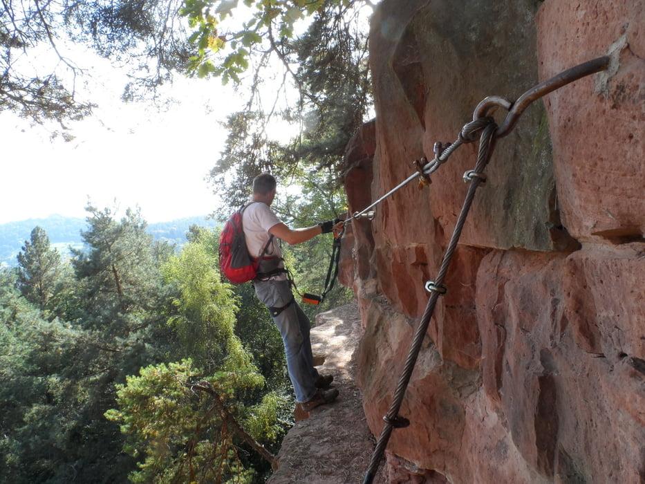 Klettersteig Hessen : Klettersteig starkenburger tour