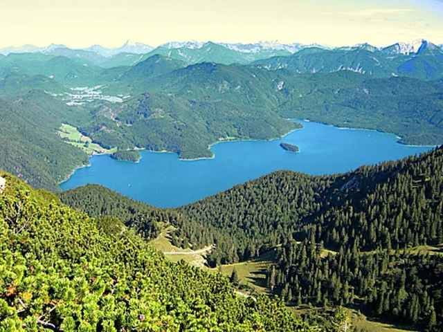Klettersteig Walchensee : Bergtour von walchensee über den herzogstand u heimgarten tour