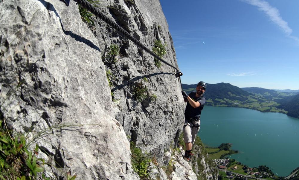 Klettersteig Drachenwand : Klettersteig drachenwand mondsee tour