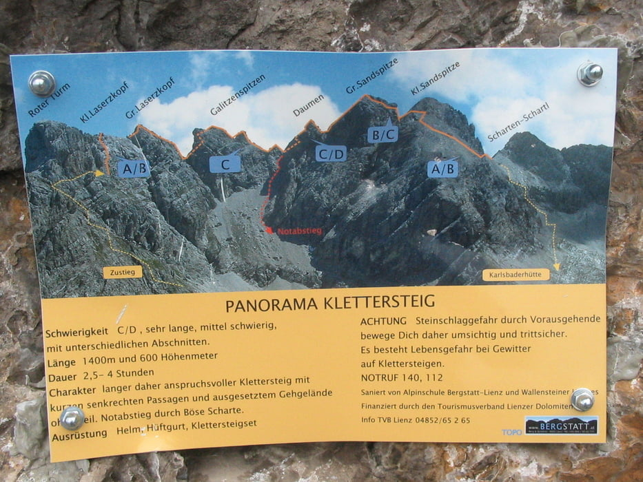Klettersteig Lienz : Klettersteig lienzer dolomiten panorama incl gr