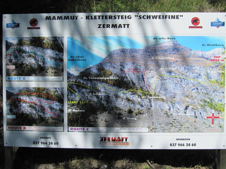 Klettersteig Karte : Klettersteig mammut zermatt tour