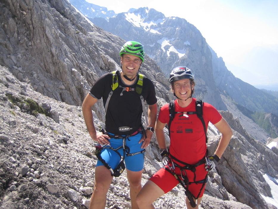 Dachstein Klettersteig Johann : Johann klettersteig und hoher dachstein mit reini in