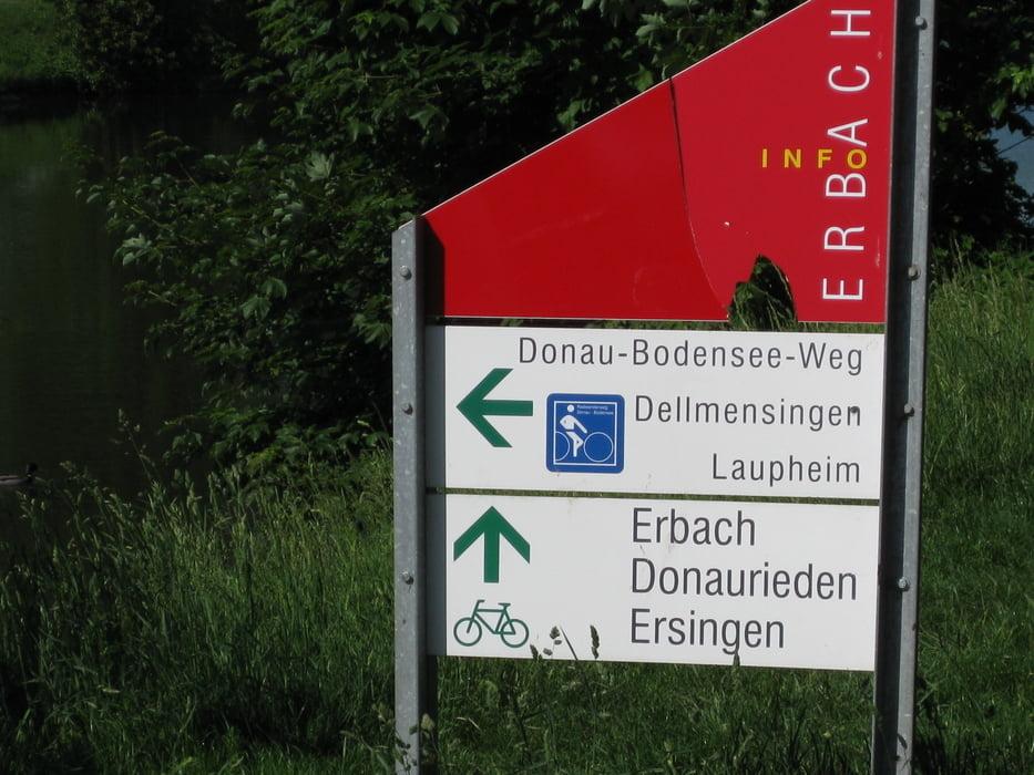 Trekkingbike Donau Bodensee Radweg Hauptroute Tour 35087