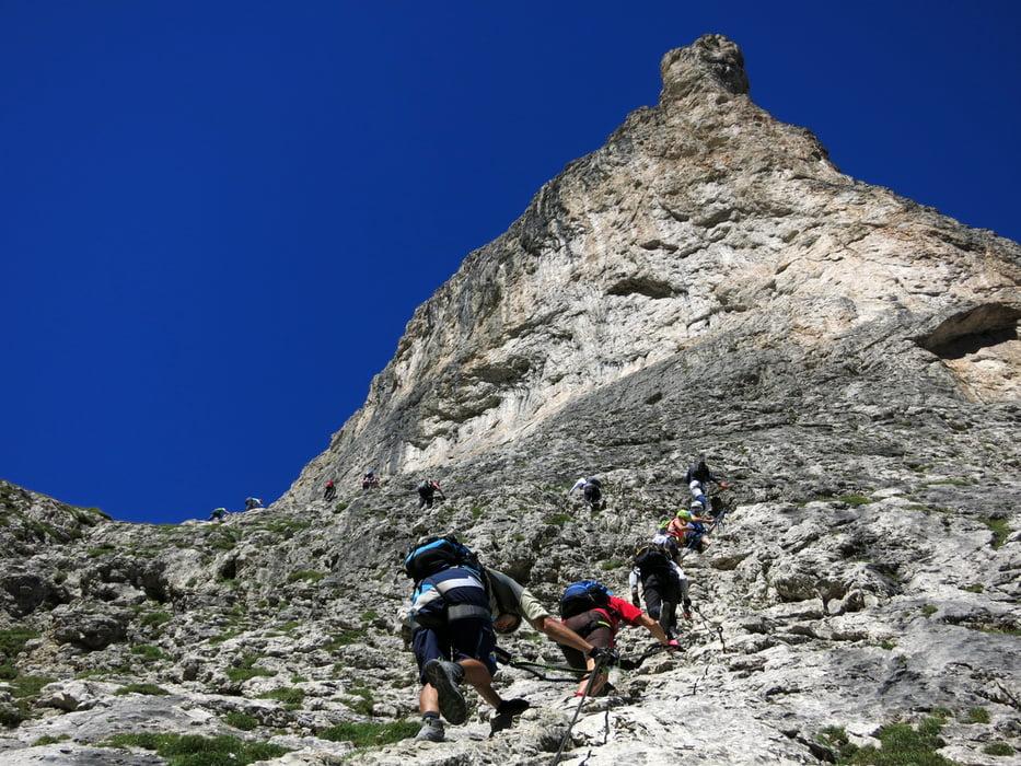 Klettersteig Pisciadu : Klettersteig pisciadu tour