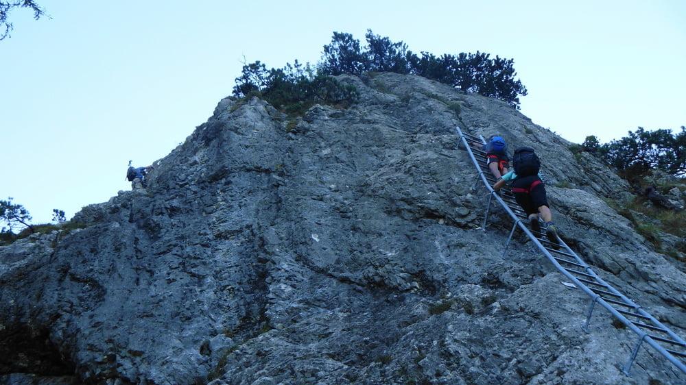 Klettersteig Tegelberg : Klettersteige am tegelberg in deutschland bayern alpen guide