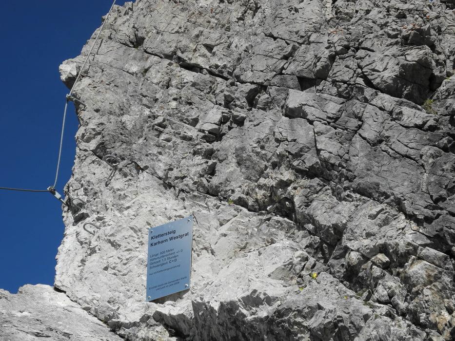 Klettersteig Bregenz : Klettersteig karhorn tour