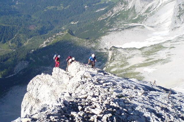 Klettersteig Johann Dachstein : Klettersteig: johann klettersteig d e dachstein 2995m tour 19742
