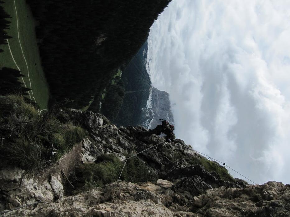 Klettersteig Wolkenstein : Klettersteig von wolkenstein zur stevia hütte tour