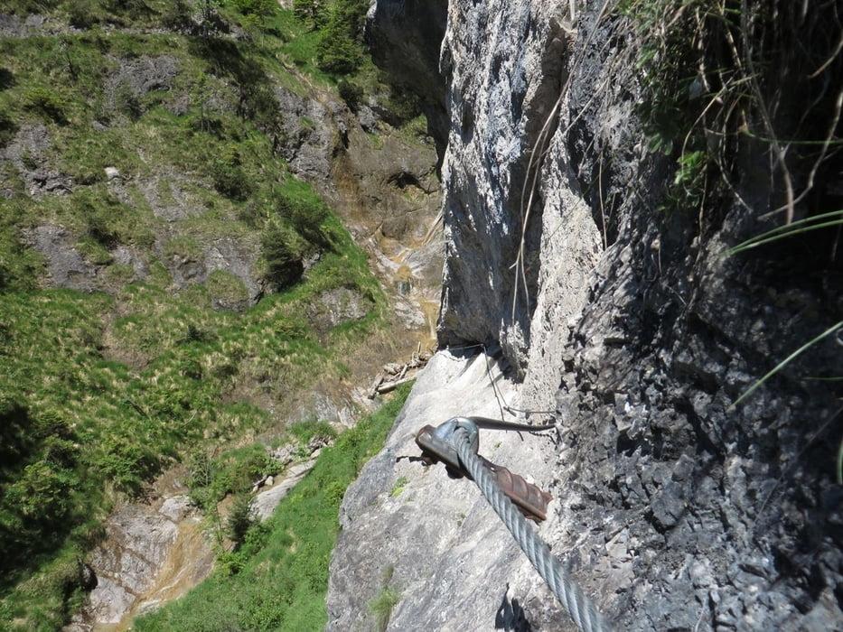 Klettersteig Hausbachfall : Klettersteig reit im winkl hausbachfall und